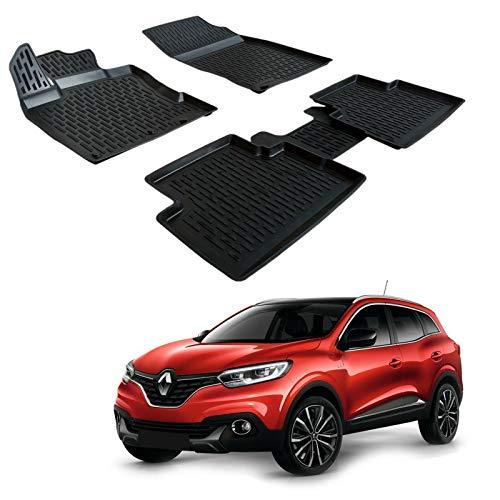 SCOUTT | 3D Tapis DE Sol en Caoutchouc Premium Compatible avec Renault KADJAR 2015-prés 4 pièces
