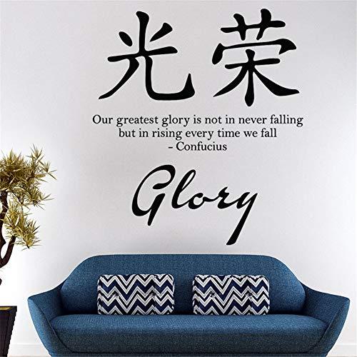 Wandtattoo Kinderzimmer Chinesische Schriftzeichen Charakter Sprüche Ruhm Wörter Englisch Text Home Decor Wohnzimmer Aufkleber
