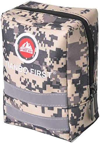 120 Pieces Survival First Aid Kit Compact Tactical 1st Aid Kit Lightweight IFAK Molle Compatible product image