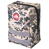 120 Pieces Survival First Aid Kit, Compact Tactical 1st Aid Kit, Lightweight IFAK Molle Compatible Outdoor Emergency Kits for Camping Hiking Backpacking and Travel, Light Yellow Camo