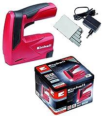 Single-light batterij tacker TC-CT 3.6 Li (3.6V, 1.3Ah, 30 shot/min, ergonome. Softgrip, veiligheidsneus, afleverincl. metalen doos, lader & 1000 klem)*