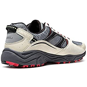 TSLA Men's Outdoor Sneakers Trail Running Shoe, All Around(t330) - Cream & Red, 10.5