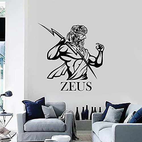 HGFDHG Calcomanía de Pared relámpago Zeus Dios mitología Griega Antigua Arte Dormitorio Sala de Estar decoración del hogar Vinilo Adhesivo para Ventana Papel Tapiz