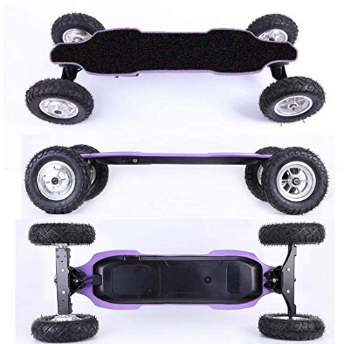 Off Road Electric Skateboard with Remote Control, 1660W X 2 Dual Motor, High Speed 35Km/H, Motorized Mountain Longboard with Bindings, All-Terrain