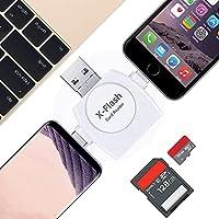 メモリカードリーダー 4in1 SD カードリーダー データ移行 USB/TYPE-C/Lightning/Micro-USB/iPhone Android PC対応 (ホワイト)