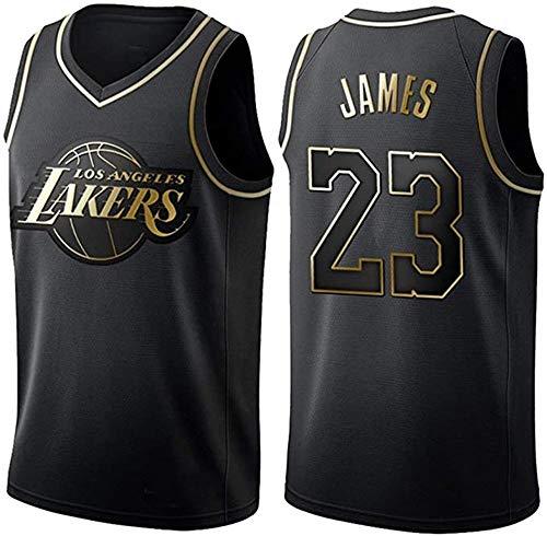 WSUN Camiseta De La NBA De Baloncesto para Hombre - Camisetas De Los Lakers NBA 23# Lebron James - Camiseta Deportiva De Baloncesto Sin Mangas Transpirable De Ocio,B,M(170~175CM/65~75KG)