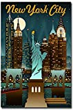 New York City Travel Vintage Art Refrigerator Magnet Size 2.5' x 3.7'