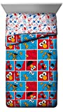 Jay Franco Sesame Street Elmo Cookie Squares Twin Comforter - Super Soft Kids Bedding - Fade Resistant Polyester Microfiber Fill (Official Sesame Street Product)