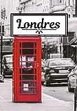Londres: Carnet de voyage | Cahier de souvenirs avec photos | Écrire ses souvenirs | Londres | Journal de bord 104 pages, 7x10 pouces |