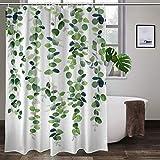 Eukalyptus-Girlande bunter Duschvorhang Badezimmer Polyesterstoff Liner Duschvorhang mit Haken 152,4 cm B x 182,9 cm H