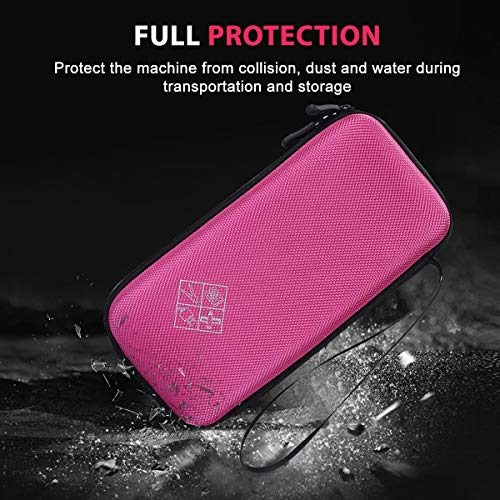 Xberstar Hard EVA Shockproof Carry Case Bag Pouch for Texas Instruments TI-84 Plus CE/Color TI-83 Plus,TI-89 Titanium, HP 50G Graphing, Scientific Financial Calculators (Pink) Photo #5