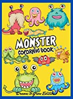 Monsters: Coloring book for kids and adults