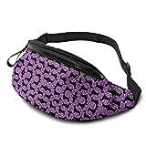 XCNGG Bolso de Cintura Corriente Bolso de Cintura de Ocio Bolso de Cintura Bolso de Cintura de Moda Casual Waist Bag Dachshunds Purple and Black For Men Women Running Travel Fashionable Fanny Pack