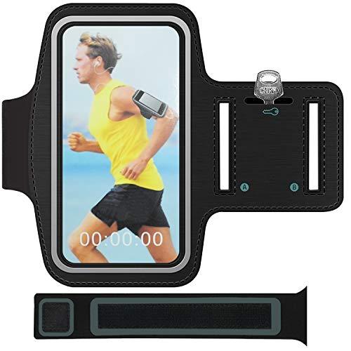 Funda para brazo deportivo con soporte para llaves, compartimento para cables, antideslizante, para iPhone 11/12/12 Pro, Huawei Mate30/40/P40 (6,5 pulgadas)