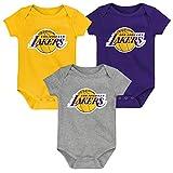 Outerstuff Body para bebé Los Angeles Lakers (3 unidades) multicolor 24 meses