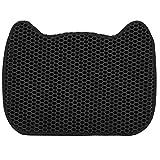 Alfombrilla de arena para gatos, doble capa desmontable y lavable Evita la dispersión de la arena Alfombrilla de arena para gatos Pet EVA Alfombrilla de masaje de nido de abeja plegable impermeable