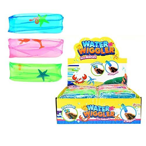Toi-Toys 1 x Wasserflutschi Flutschi Wasserschlange mit Meerestieren, 1 aus 3 Farben