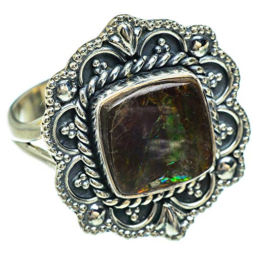 Ana Silver Co Ammolite Ring Size R 1/2 (R 1/225 Sterling Silver)