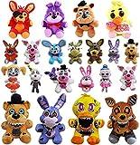 NC86 21 Unids/Set 18-25cm FNAF Foxy Bear Peluche de Juguete Película de Dibujos Animados Cinco Noches en Freddy Regalos de Animales de Peluche para niños