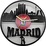 Reloj de la Ciudad de Madrid, con los monumentos más significativos, Fabricado en Disco de Vinilo.