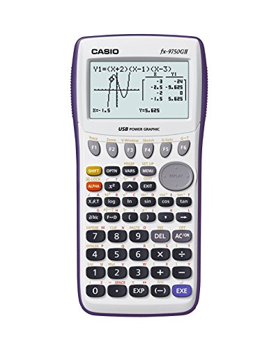 Casio fx-9750GII Graphing Calculator, White (Renewed)