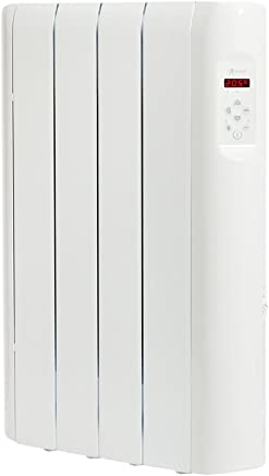 Haverland RC4E - Emisor Térmico Digital Fluido Bajo, Programable, Exclusivo Indicador de Consumo, 4 Elementos, 500 W, Blanco