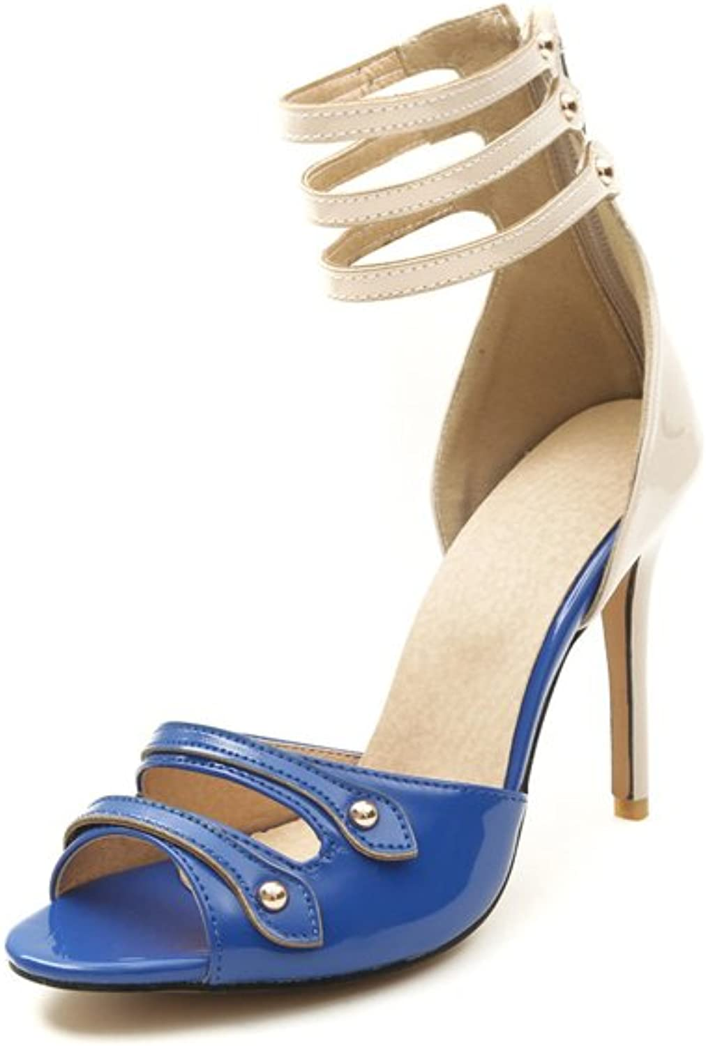 Women's shoes Leather Spring Summer Pump Heels Stiletto Heel Peep Toe Buckle Party & Evening Party & Evening