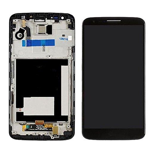 LG Optimus G2 D802 D805 LCD Pantalla Táctil Digitalizador Vidrio Completa con Marco Reemplazo y Herramientas (Negro)