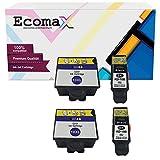 Ecomax 4er Set Druckerpatronen kompatibel zu Kodak 10B 10C