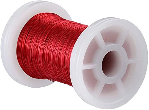 """BNTECHGO 34 AWG Magnet Wire - Enameled Copper Wire - Enameled Magnet Winding Wire - 2 oz - 0.0063"""" Diameter 1 Spool C..."""