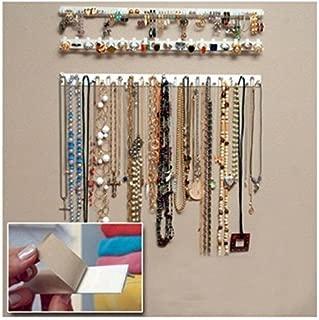 J.C Arts 9 in 1 Adhesive Paste Wall Hanging Storage Hooks Jewelry Display Organizer Necklace Hanger
