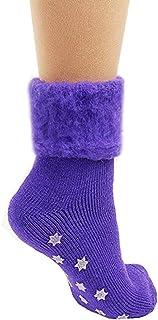 The Original Comfort Bed Socks - Purple Stars - Anit Skid Bottom