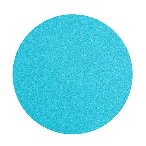 ESTA-Design Lot de 4 Dessous de Verre en Feutre Turquoise Épaisseur 5 mm Ø 10 cm