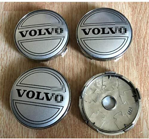 Coche 4 piezas, cubierta de rueda con logotipo 3D, cubierta de cubo de aluminio, autoadhesivo con logotipo, para Volvo tamaño 60 mm