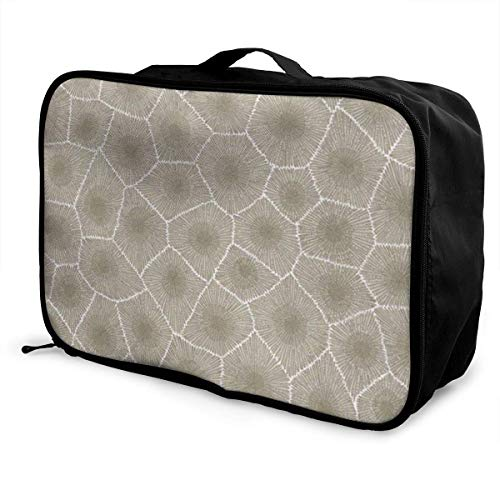 Bolsas de Maleta Petoskey Stone Young Men and Women School Luggage Bag Lightweight Large Capacity Portable Holiday Travel Bags Tote Duffel Carry-on in Trolley Holiday Suitcase Bags