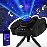 GLOUE Pro Star Projector Night Light Christmas Gift Galaxy Sky Lite with Bluetooth Music Speaker Nightlight Mood for Bedroom, Home Theater, Game Rooms or Party Decoration, Gifts for Kids