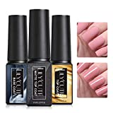 LILYCUTE Smalto Semipermanente Base e Top Coat e Top Coat Opaco, 3x 7ml Top Coat Opaco e Lucido Base per Semipermanente Unghie UV LED Soak Off Kit per Manicure Smalti Gel per Unghie Kit