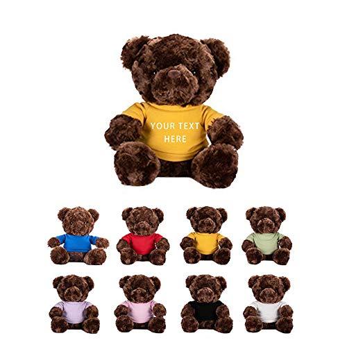 Personalisiert Stofftier Plüsch Teddy Teddy Bär mit Name & Geburtsdatum Geschenk zur Taufe Geburt, 10