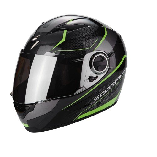 Scorpion Casco Moto EXO-490 Vision, Black/Green, S