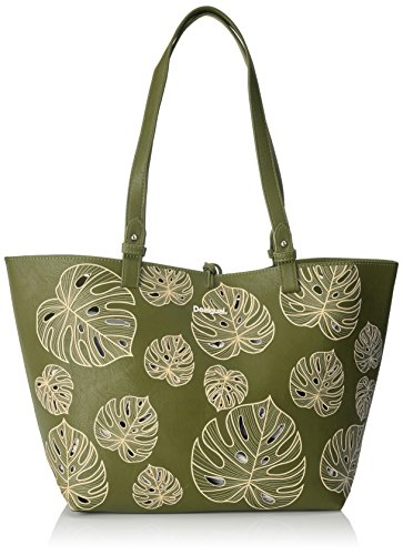 Desigual Damen Handtasche Tasche Shopper ATTALEA CAPRI Grün 18SAXPB3-4124