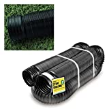 Perforated Corrugated Expandable Flexible Landscape Drain Pipe, 4-in....