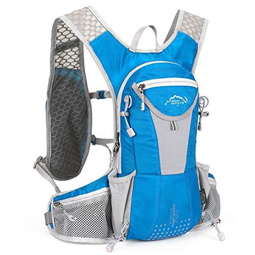 UTOBEST ハイドレーションリュック ランニングバッグ サイクリングリュック スポーツバッグ ウォーキング用バッグ マラソン ジョギング 自転車リュック 軽量 防水 通気 10L5色選び (ブルー)