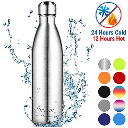 ecooe Thermos 750 ml Bottiglia d'Acqua in Acciaio Inox Vuoto Isolamento Bottiglia per Bottiglia d'Acqua Fredda e Bevande Calde