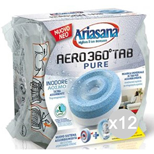 Ariasana Set 12 Ricarica Aero 360 Inodore Pastiglia Deumidificatore Ambiente