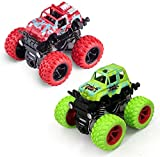 Farraige® Pull Back Cars Toys, 2-Packs Monster Truck Toys,Four-Wheel Drive Inertia Car Toys
