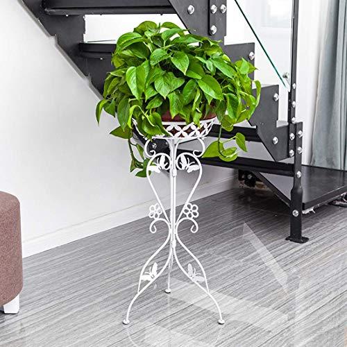 LLYU Pot de fleur de métal de décoration florale de cadre de support pot/support de présentoir de plante de fleur de fond de pot de fleurs (Color : White)