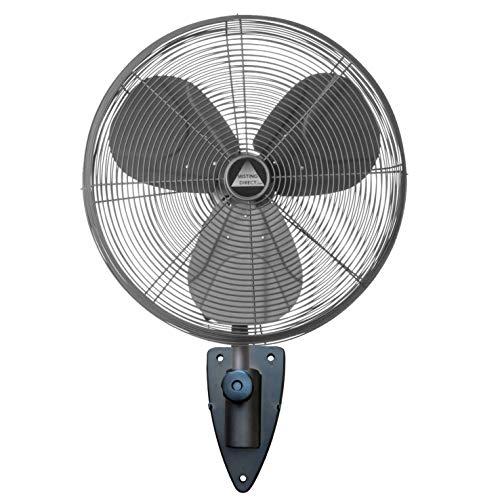 Wet Location Fan w/Designer Wall Mount: 24' Precision Aluminum Blades, Oscillating, 3-Speeds, Commercial Grade, Indoor/Outdoor (Oil Rubbed Bronze)