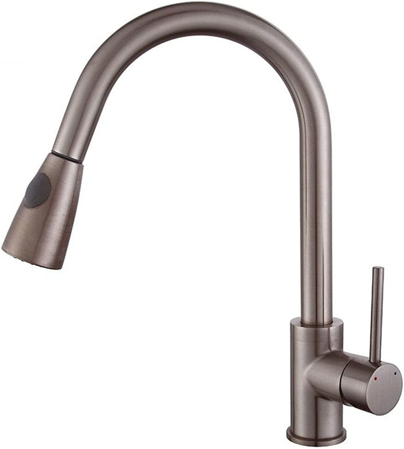 AQMMi Basin Taps Bathroom Sink Faucet Brass Hot and Cold Water Brushed redatable Pull Out Bathroom Sink Faucet Basin Mixer Tap