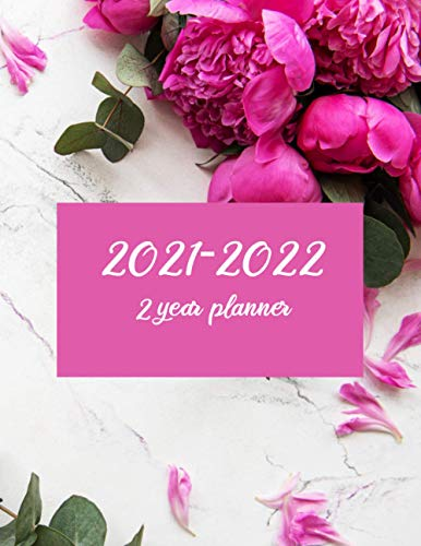2 Year Monthly Planner 2020-2021 With Pink Peonies: 2 Year Calendar 2020-2021 Monthly | Personal Appointment |Business Planner| 24-Month Plan & Calendar with Holidays Size: (8.5