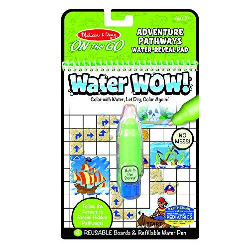 Melissa&Doug 40174 Water Wow | Activity Pad | Reise | ab 3 Jahren | Geschenk für Jungen oder Mädchen